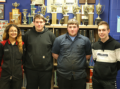 Valley Forge Auto Service Technology students