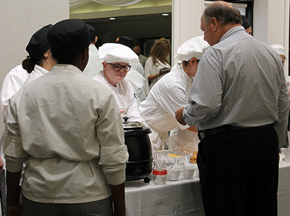 Culinary Arts students serve food at Taste of the Towns