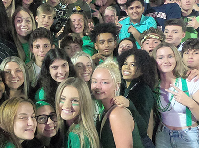 Valley Forge students at football game