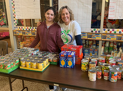 PCSD Food Drive photo from Hillside Middle School