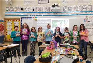 Thoreau Park Elementary Book Club students