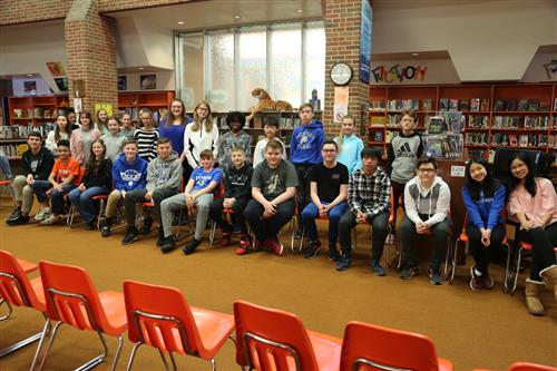 Hillside Middle School Spelling Bee contestants
