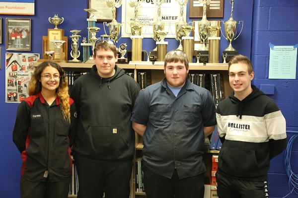 Auto Service Technology students at Valley Forge