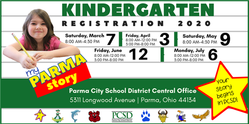 Kindergarten Registration 2020
