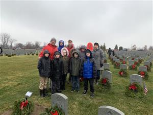 Ridge-Brook students at Western Reserve National Cemetery