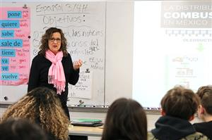 Sandra Fink's Spanish class at Valley Forge challenges students to learn the language using the CI method, or Comprehensible