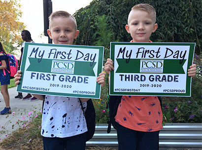 Thoreau Park students on first day of school