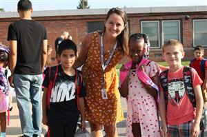 Ridge-Brook First Day of School with students
