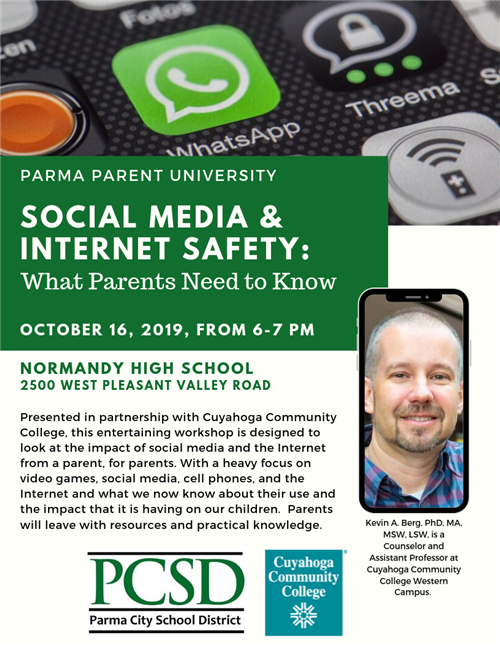 Parma Parent University: Social Media & Internet Safety