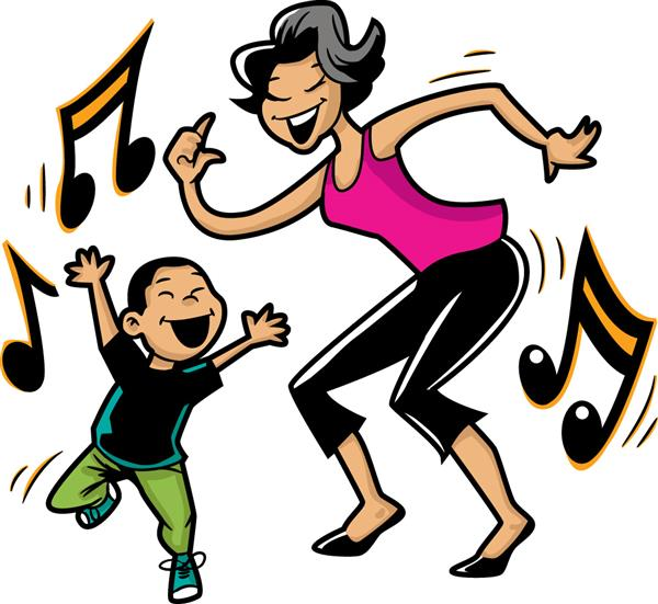 Mother and Son Dance Clip Art