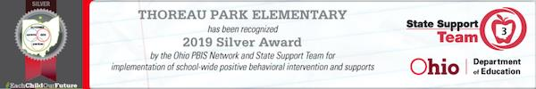 Thoreau Park has been recognized as a 2019 Silver Award recipient by the Ohio PBS Network and State Support Team