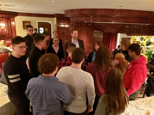 Students Meeting Eric Trump