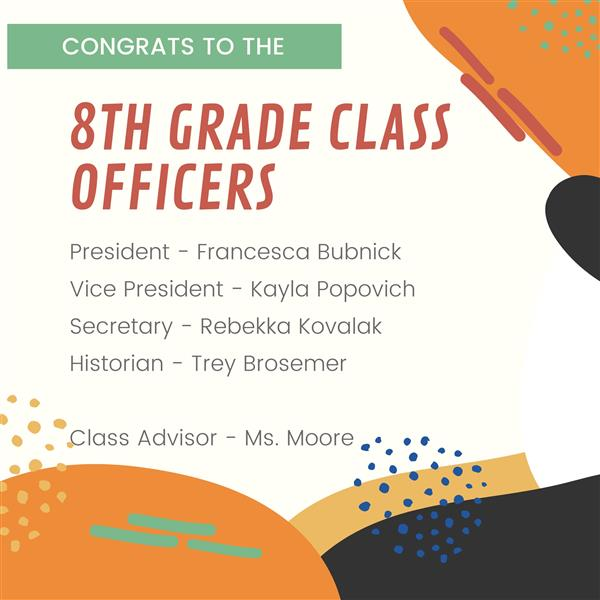 8th Grade Class Officers