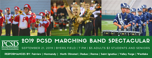 2019 PCSD Band Spectacular September 21, 2019 7 pm Byers Field