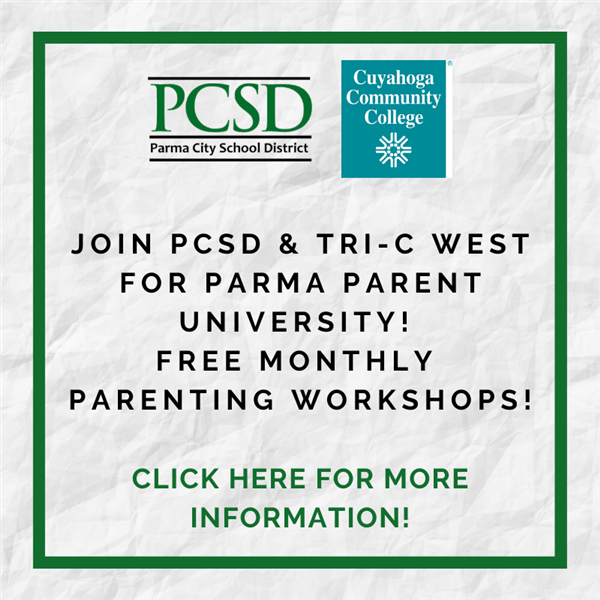 Learn more about Parma Parent University Workshops here!