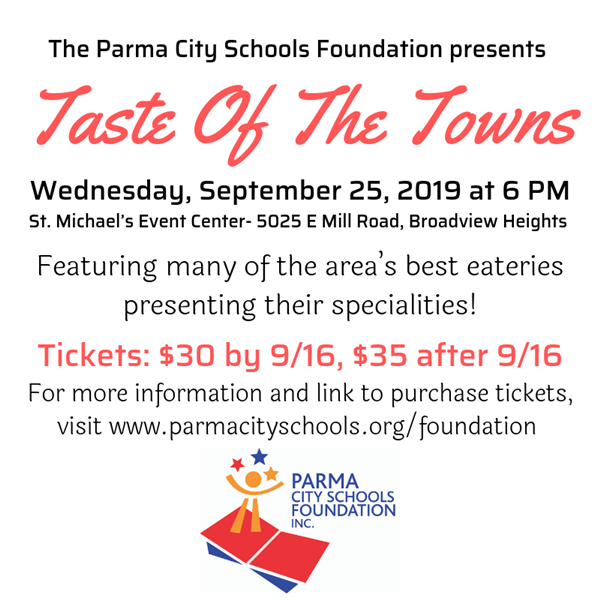Taste of the Towns 2019 September 25, 2019 at 6 pm