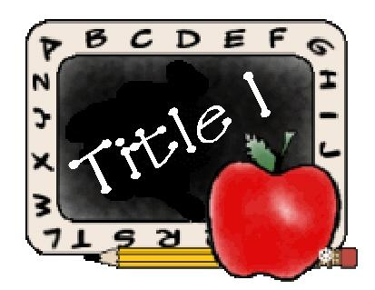 "A cartoon picture of a blackboard that says ""Title 1"""