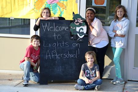 Students at Lights On Afterschool Event